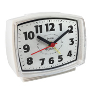 Westclox 22192A White Quartz Analog Alarm Clock
