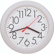 Westclox 461761 Clock Wall Rnd Plstc Wht 10In
