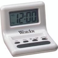 Westclox 47539A White Celebrity Glo-Clock.8 Inch LCD