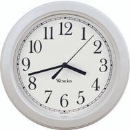 Westclox 46994A 8-1/2 Inch Simplicity Round Wall Clock White