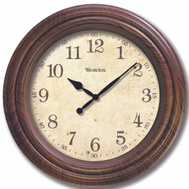 Westclox 33883P Clock Wall Rnd Wood 9.5In