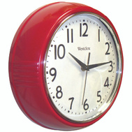 Westclox 32042R Wall Clock Round 9-1/2 Inch Red
