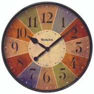 Westclox 32897 Clock Wall Round 12 Inch Multi-Color