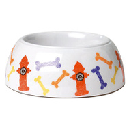 Petrageous Designs 12102 Hydrant 4C WHT Pet Bowl