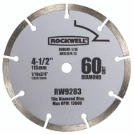 Rockwell RW9283 4-1/2 Inch Diamond Segmented For RK3441K