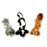 Hugfun 219572-574 Woodland Animal Toys With Squeakers 3 Piece Set