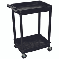 Luxor Wilson STCS11-B Cart Utility Tub 2 Shelf