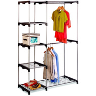 Honey Can Do WRD-02124 Freestanding Double Rod Closet Organizer