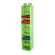 Honey Can Do SFT-02817 8 Shelf Hanging Organizer Lime Green