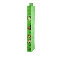 Honey Can Do SFT-02818 10 Shelf Hanging Shoe Organizer Lime Green Color