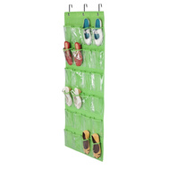 Honey Can Do SFT-02819 24 Pocket Shoe Organizer Lime Green
