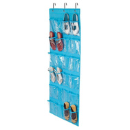 Honey Can Do SFT-02822 24 Pocket Shoe Organizer Ocean Blue