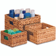 Honey Can Do STO-02882 Basket Nesting Banana Leaf 3Pc