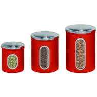Honey Can Do KCH-03011 3PK RED Stor Canisters