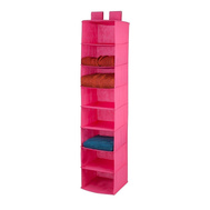 Honey Can Do SFT-03055 8 Shelf Hanging Organizer Pink