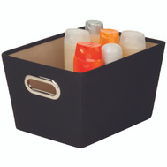 Honey Can Do SFT-03071 Bin Storage W/Handle Sm Black