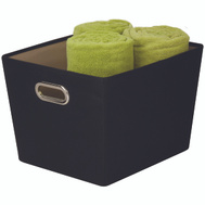 Honey Can Do SFT-03072 Bin Storage W/Handle Med Blk