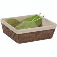 Honey Can Do STO-03564 Basket Cord Med W/Liner Brown