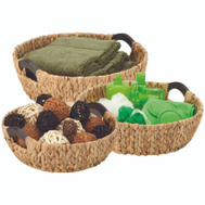 Honey Can Do STO-04469 3PC BRN RND Basket
