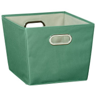 Honey Can Do SFT-03075 Bin Storage W/Handle Med Green