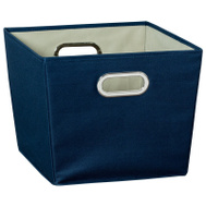 Honey Can Do SFT-01993 Bin Storage W/Handle Med Navy