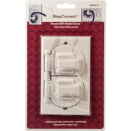 StayConnect IR300-G White Decorative Safety Hook Wall Plate