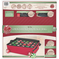 Treekeeper SB-10188 Two-Tray Ornament Storage Bag With Clear Window