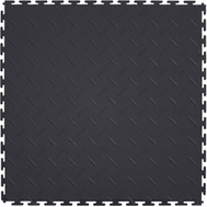 It Tile ITDP450BK45 Flexible Interlocking PVC Floor Tiles Diamond Plate Pattern Black 20 By 20 Inch 8 Tiles Per Case