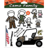 Sei/Realtree Camo RT-CFAM-LG Decal Window Family Camo 28Pc
