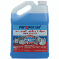 Wet & Forget 800006 Moss Mold Mildew And Algae Stain Remover Concentrate 1 Gallon