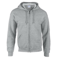 Gildan Branded Apparel Srl 244974 MED GRY Full Zip Hoody