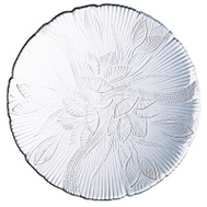 ARC International J0169 Canterbury Floral Embossed Clear Dessert Plate 7-1/4 Inch