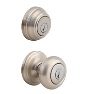 Kwikset 991J 15 SMT CP Juno Keyed Entry And Single Cylinder Deadbolt Smartkey Satin Nickel