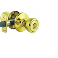 Kwikset 740A 3 SMT 6AL RCS Abbey Keyed Entry Lockset Smartkey Polished Brass