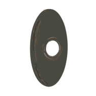 Kwikset 27601 11P SA RSE DECO OV Parts Oval Backplate Set For Reversible Levers Venetian Bronze