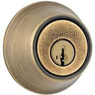 Kwikset 660 5 RCAL SMT Security Single Cylinder Deadbolt Smartkey Antique Brass