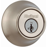 Kwikset 660 15 RCAL RCS Security Single Cylinder Deadbolt Satin Nickel