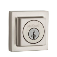 Kwikset 993 SQT 15 SMT CP SCAL Signature Series Contemporary Square Single Cylinder Deadbolt Satin Nickel Smartkey