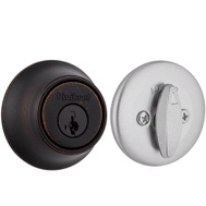 Kwikset 660 11PX15 SMT RCAL RCS Security Single Cylinder Deadbolt Venetian Bronze Exterior Satin Nickel Interior