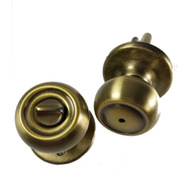 Kwikset 300C 5 CP Copa Bed And Bath Privacy Lockset Antique Brass