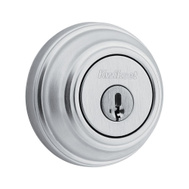 Kwikset 980 26D SMT CP SCAL SCS Signature Series Single Cylinder Deadbolt Smartkey Satin Chrome Square Corners