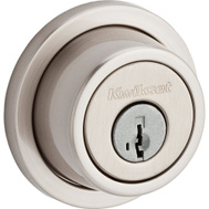 Kwikset 994 RDT 15 SMT CP Signature Series Contemporary Round Double Cylinder Smartkey Deadbolt Satin Nickel