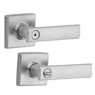 Kwikset 730VDL SQT 26D CP 6AL Vedani Bed And Bath Privacy Leverset Square Back Satin Chrome