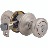 Kwikset 740CN 15 SMT CP Cameron Keyed Entry Lockset Smartkey Satin Nickel