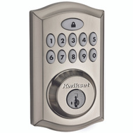 Kwikset 913TRL 15 Electronic Traditional Touchpad Plus Smartkey Deadbolt Satin Nickel