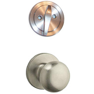 Kwikset SK1150AS 15 Safe Lock Athens Interior Handleset Trim Pack Satin Nickel
