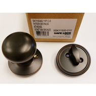 Weiser by Kwikset SK1150AS 11P C-5 Safe Lock Athens Interior Handleset Trim Pack Venetian Bronze