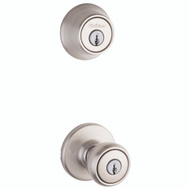 Kwikset 690T 15 CP K6 Tylo Keyed Entry And Single Cylinder Deadbolt Satin Nickel