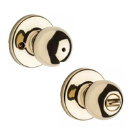 Kwikset 300P 3 CP 4AL RCS Polo Bed And Bath Privacy Lockset Polished Brass