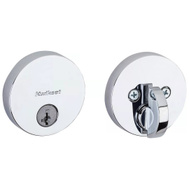 Kwikset 258 RDT 26 SMT CP K4 Uptown Round Single Cylinder Deadbolt Smartkey Polished Chrome